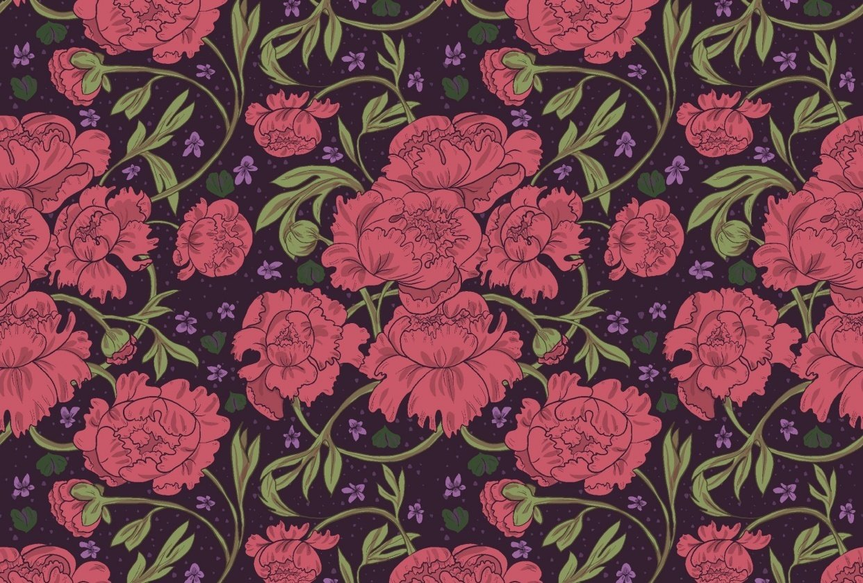 Peony & Violet - student project