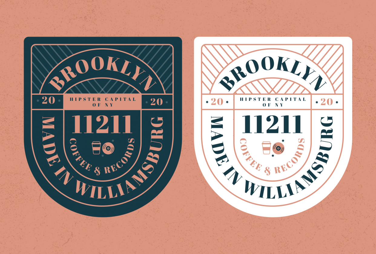 Badge design — Brooklyn edition - student project