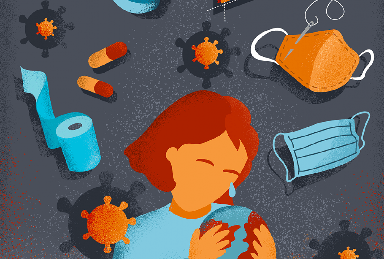 Coronavirus Editorial Illustrations - student project