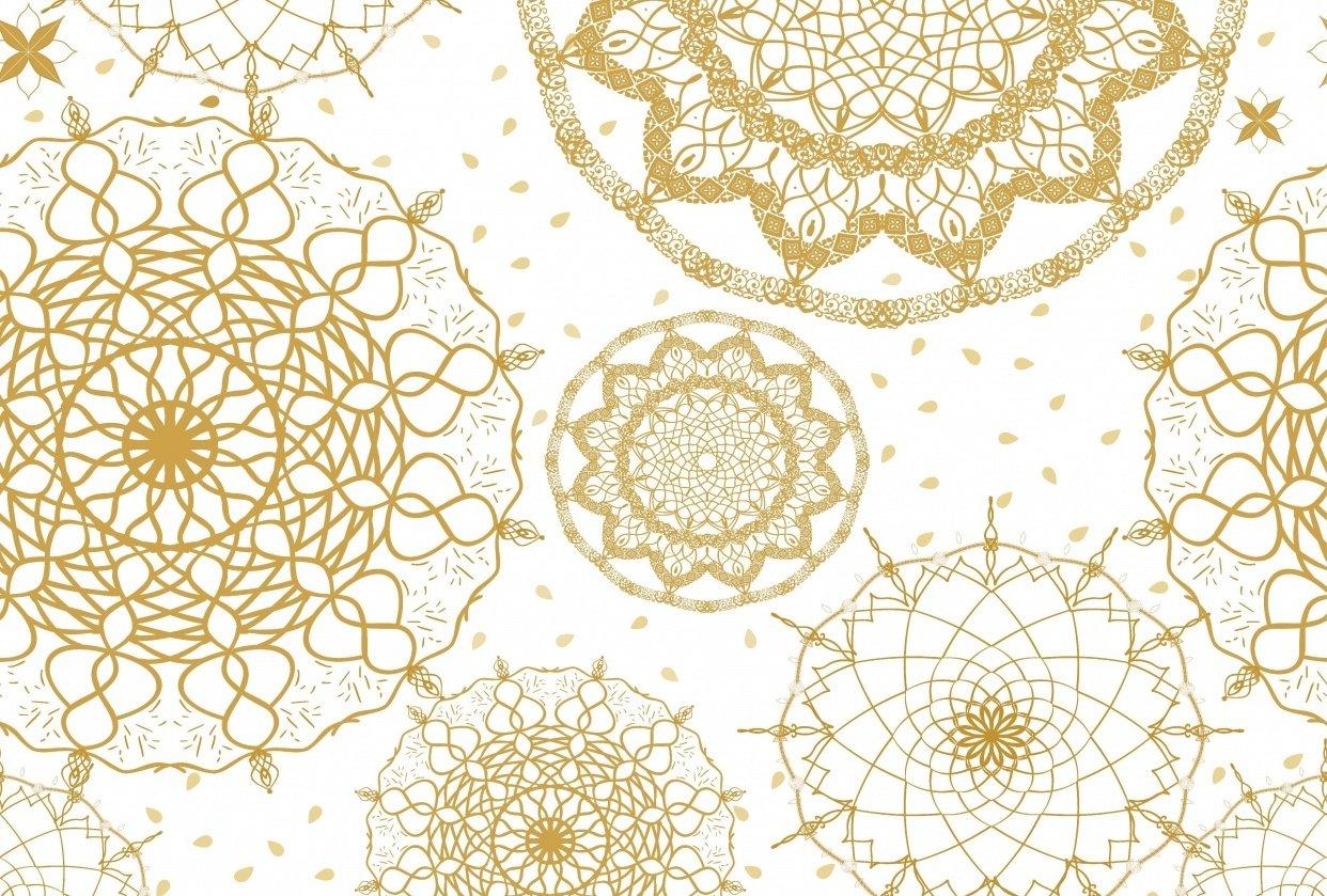 Gold mandalas - student project