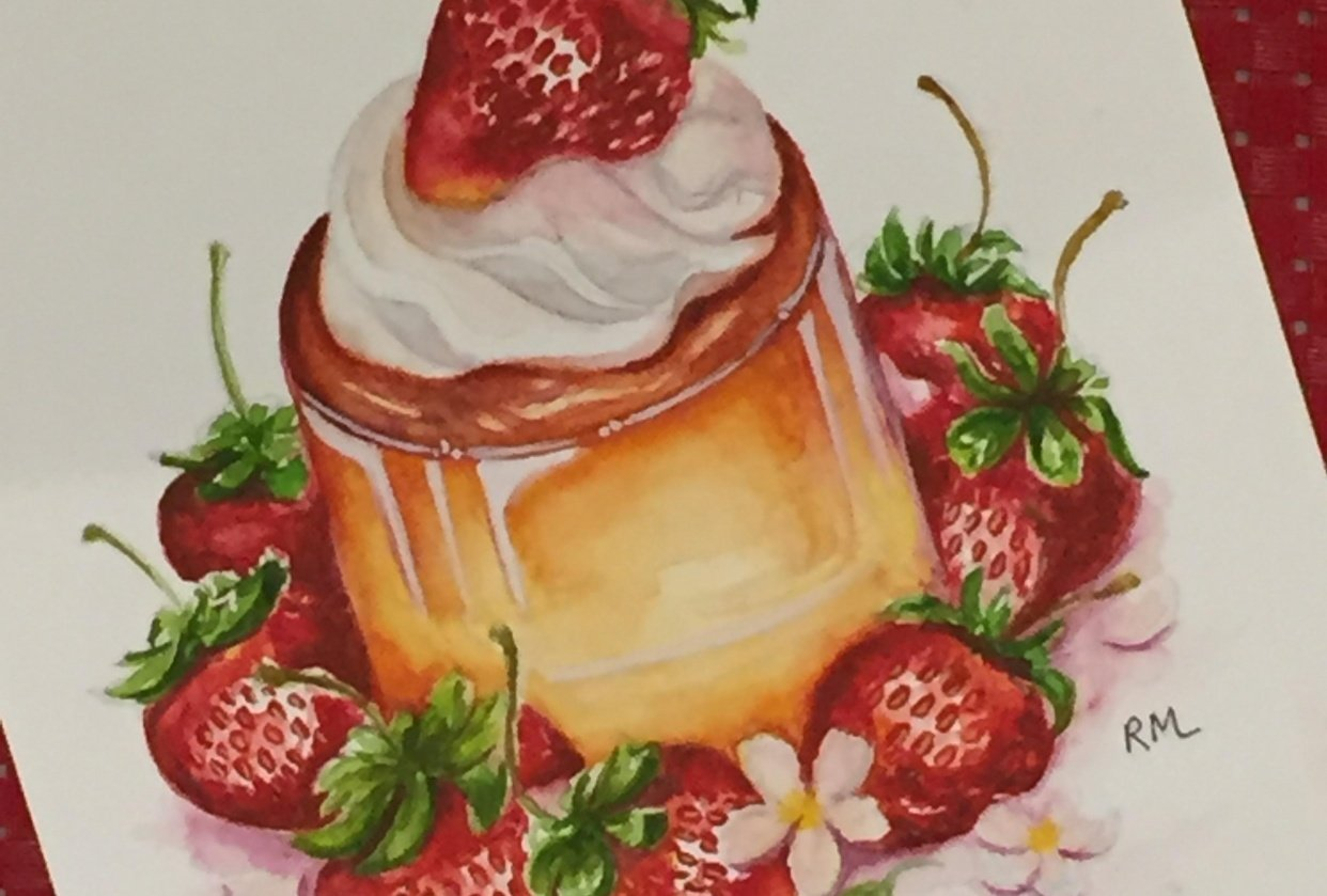 Strawberry Flan - student project