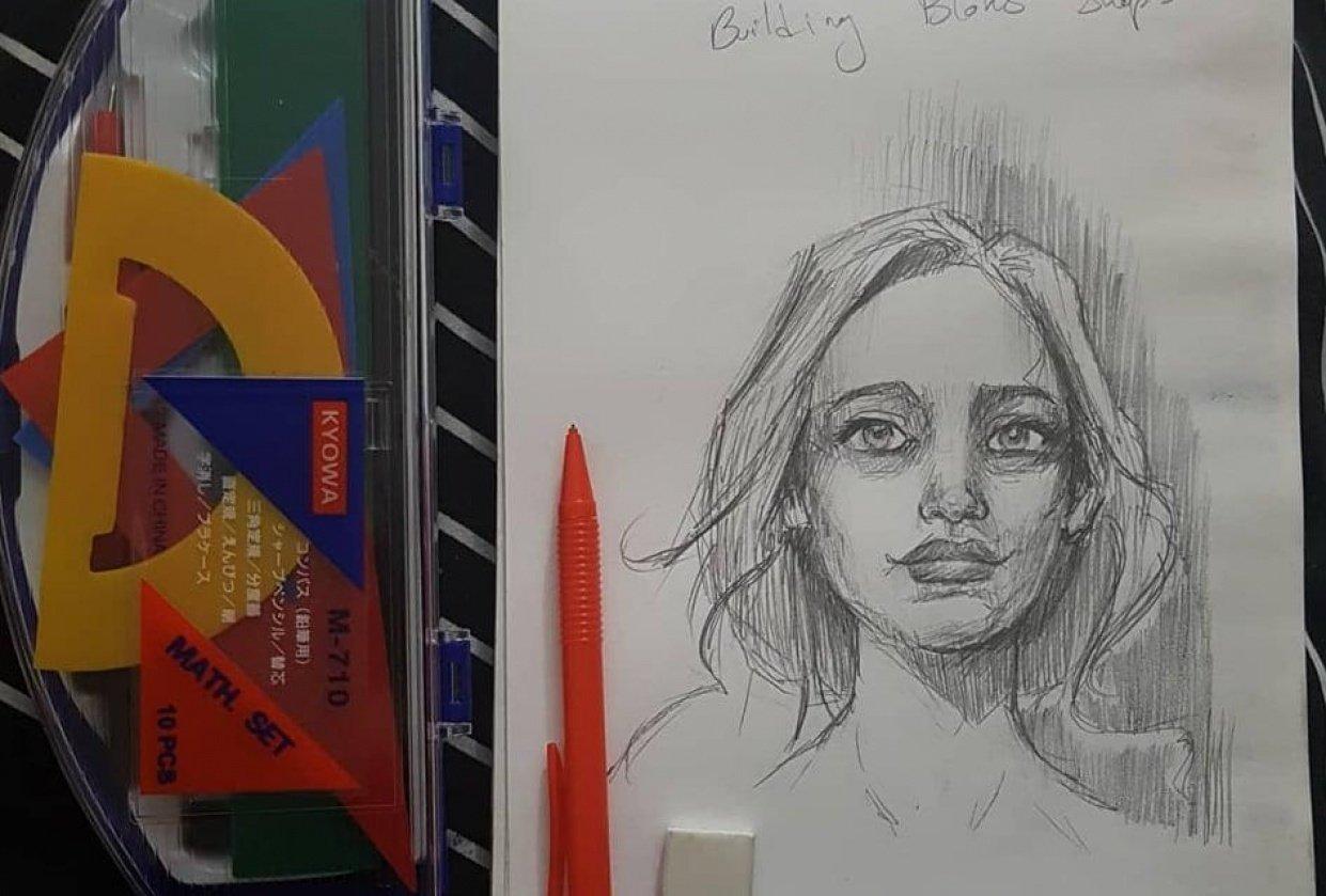 Portrait practice. - student project