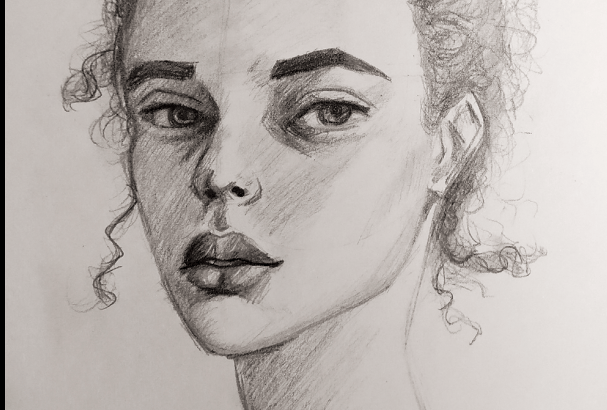 Portrait drawing - student project