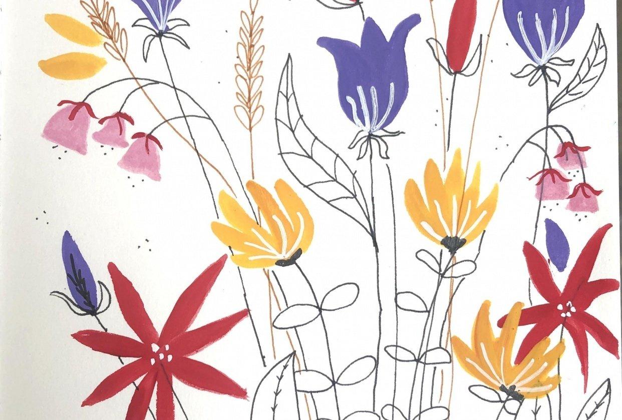 Decorative flowers - student project