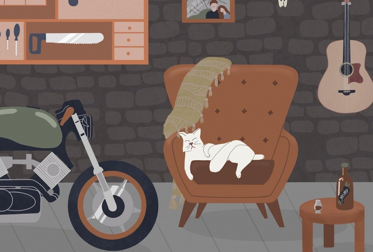 Garage(sort of) with a cat - student project