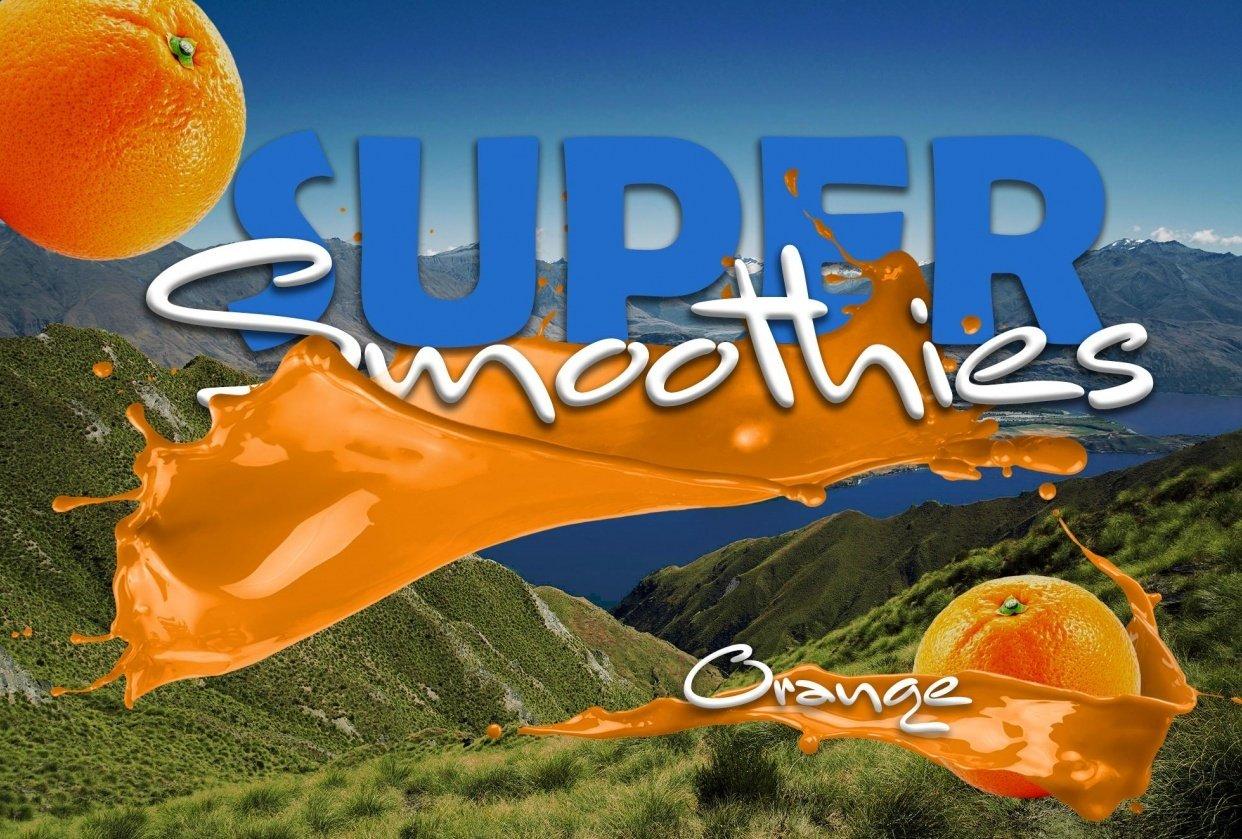 Orange super smoothies - student project