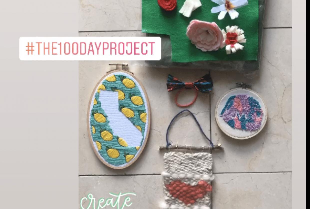 100 Days of Fiber Art - student project