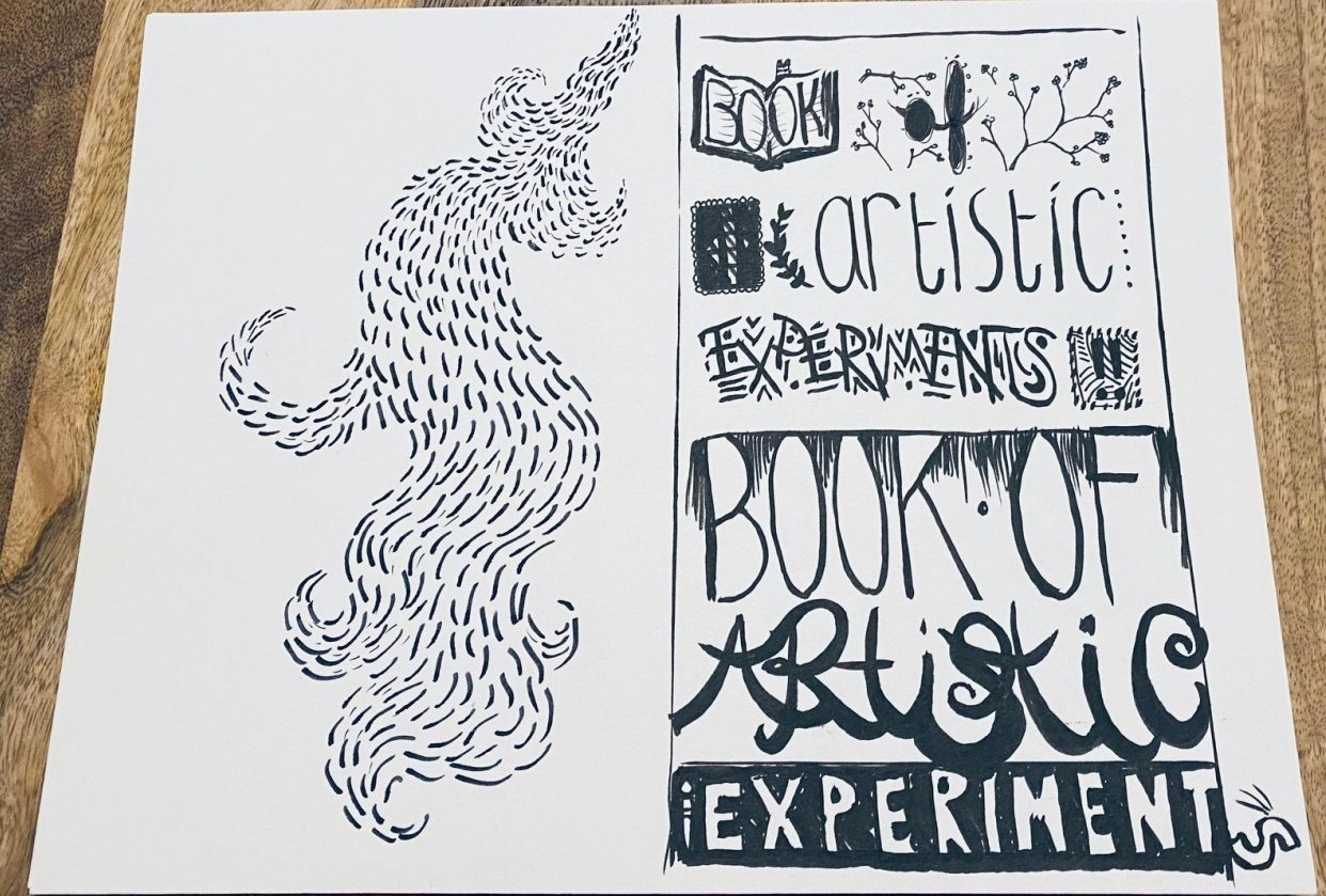 """""""Black ink only"""" was the goal... - student project"""