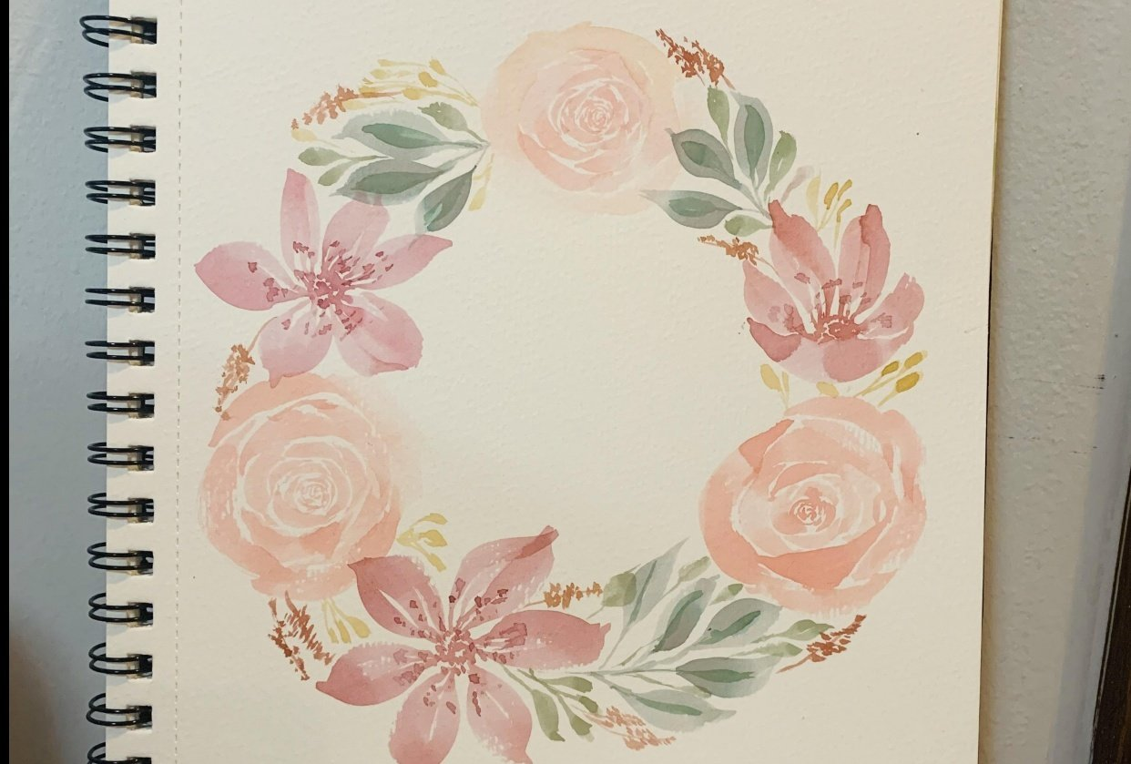 My floral wreath - student project