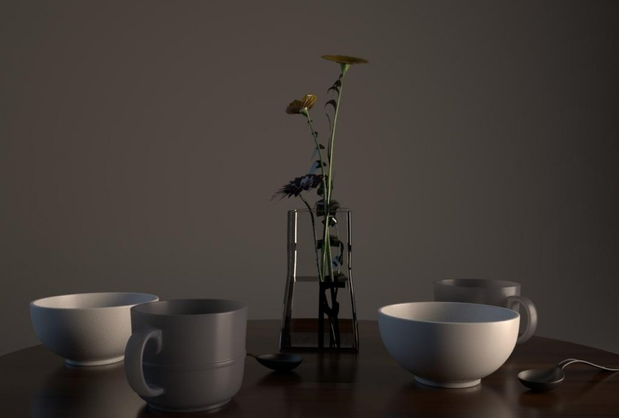 Table_modeling_by_Maya - student project