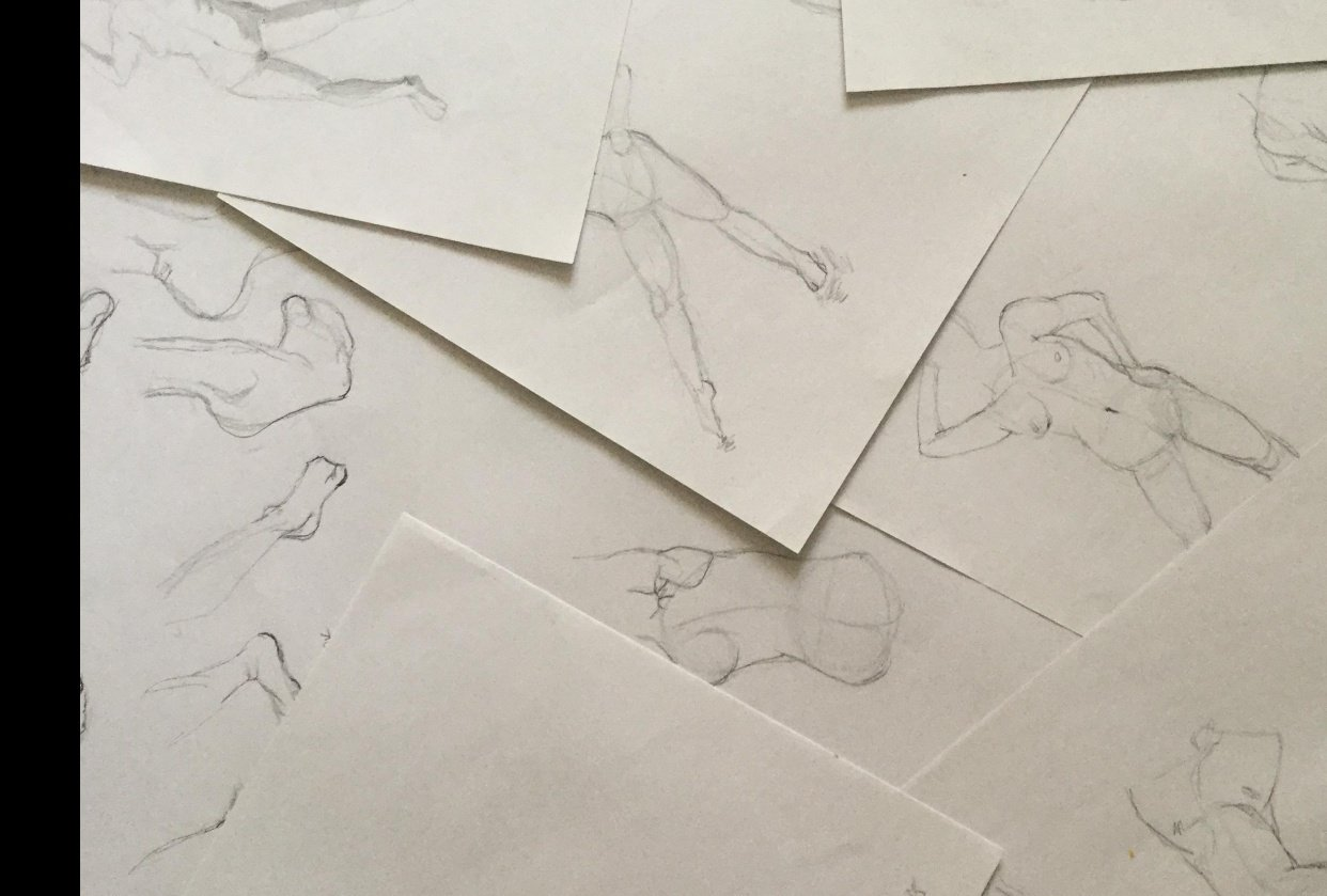 Gesture drawing - student project