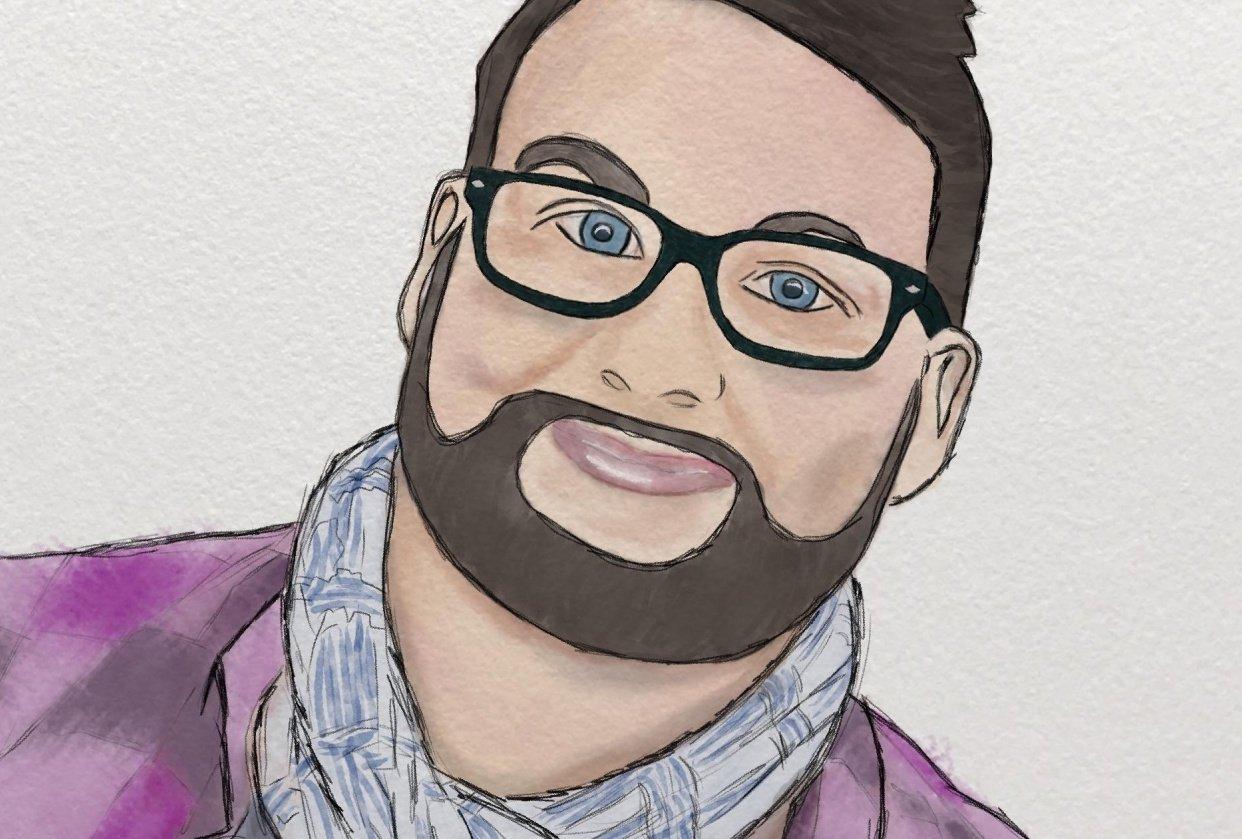 Self portrait in Procrate - student project