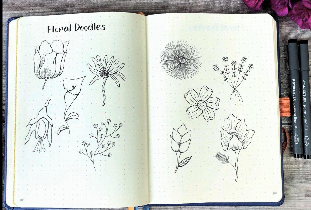 Floral Doodles - student project