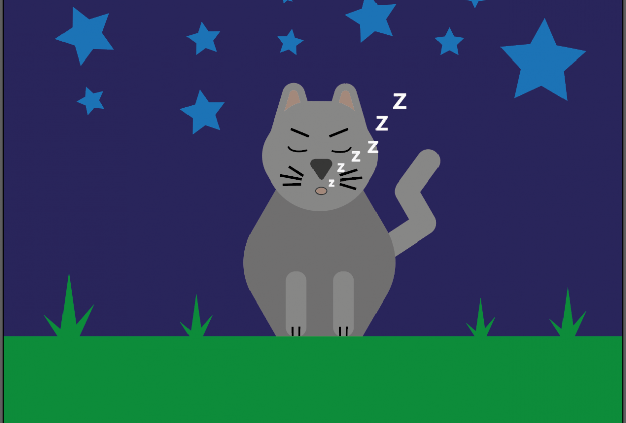 Seefa Cat Snoozing - student project