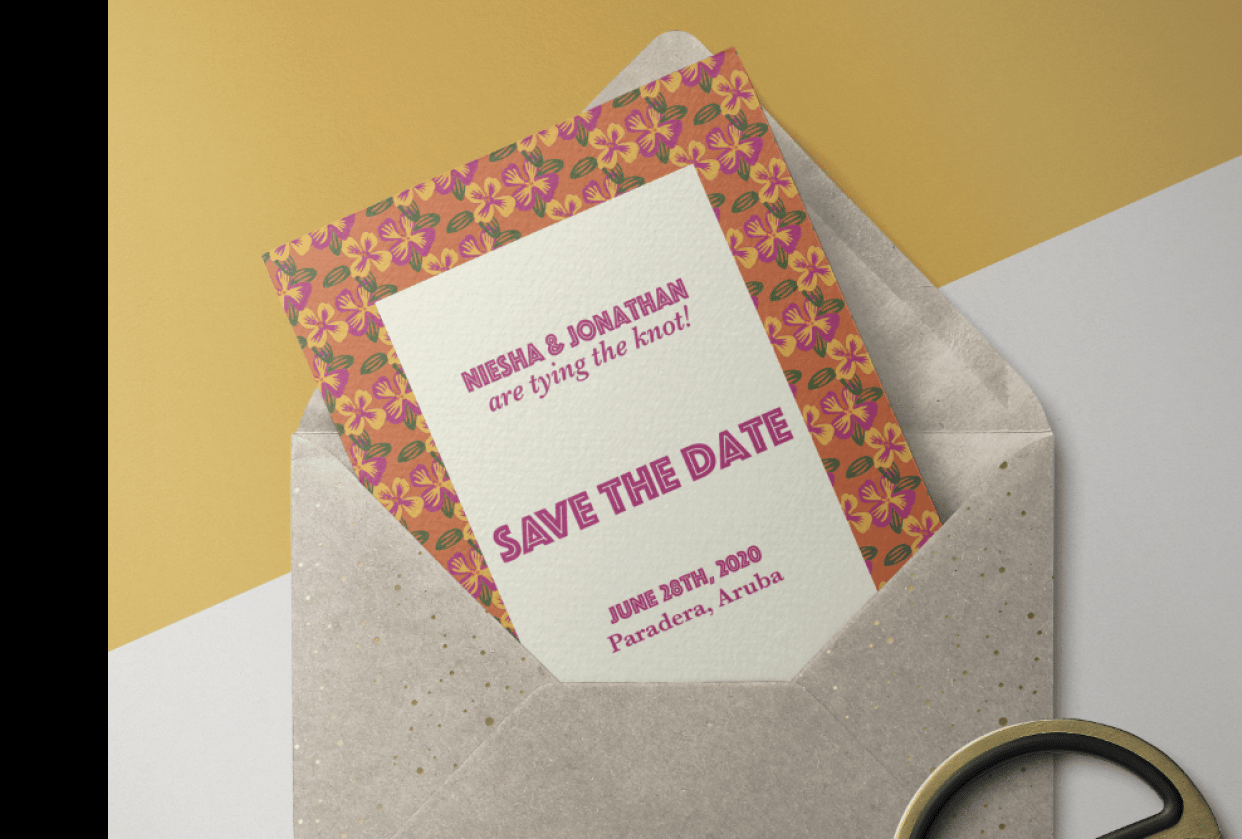 Gen's Project: Niesha & Jonathan's Save the Date - student project
