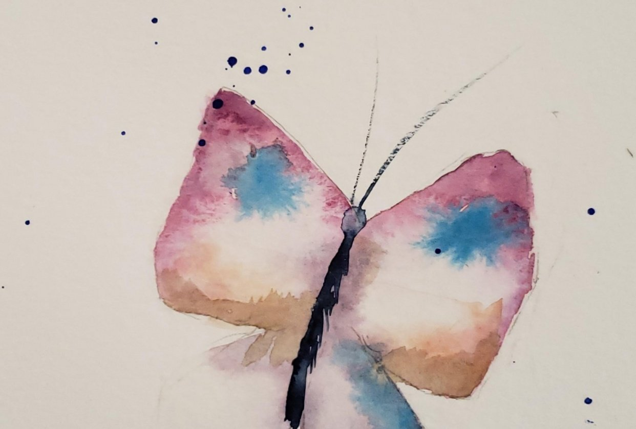 Butterfly painting - student project