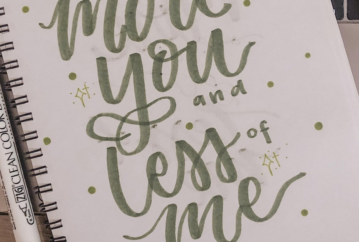 Quote Handlettering - student project