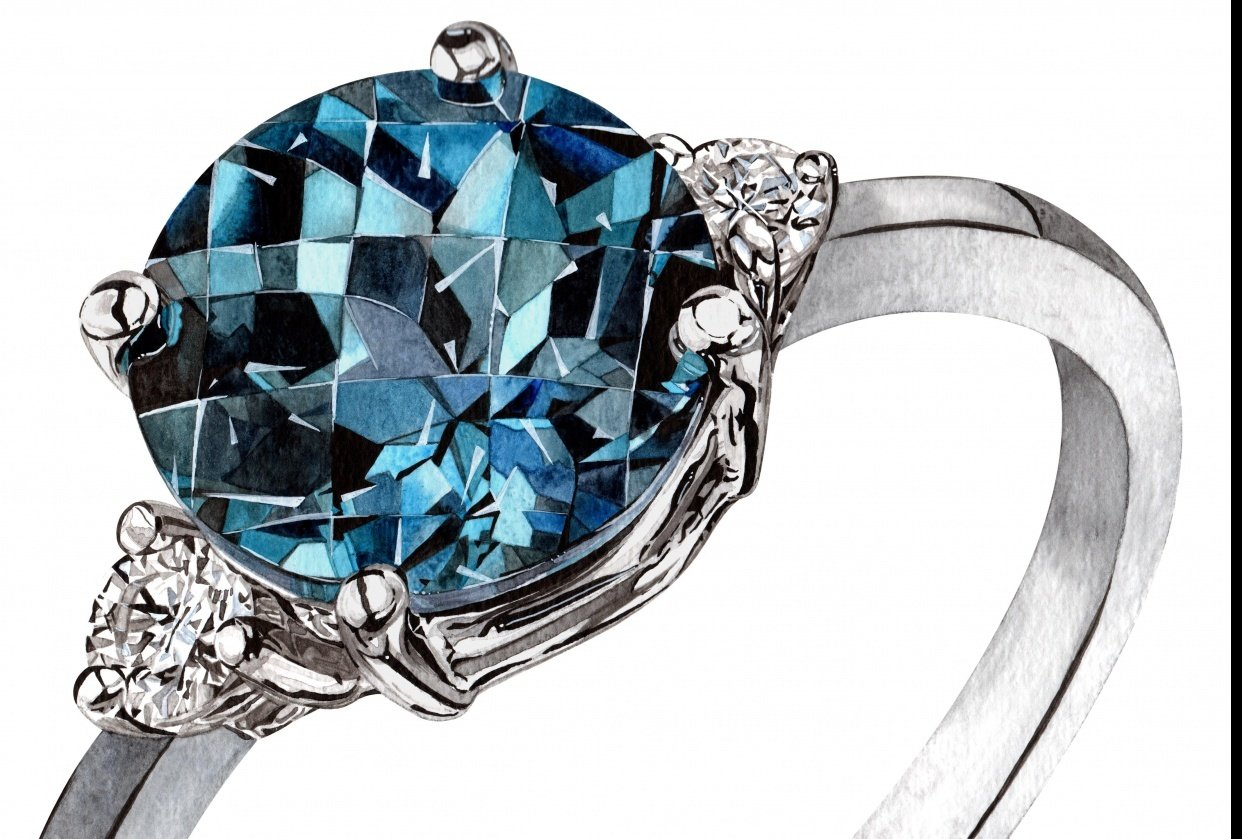 Sapphire Ring - student project