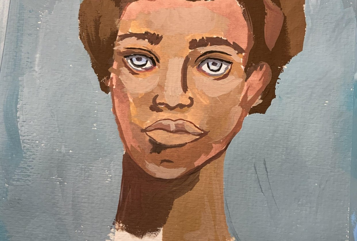 First ever portrait - student project