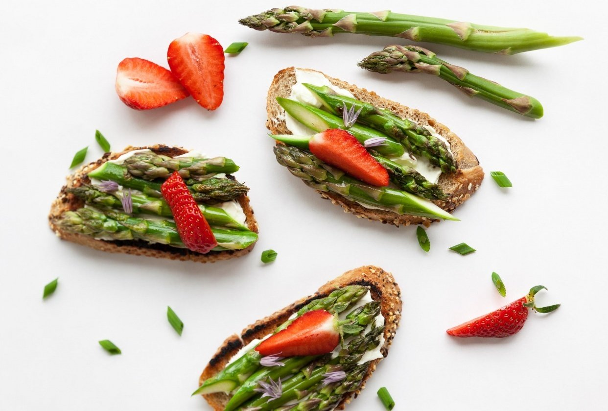 Asparagus Toast - student project