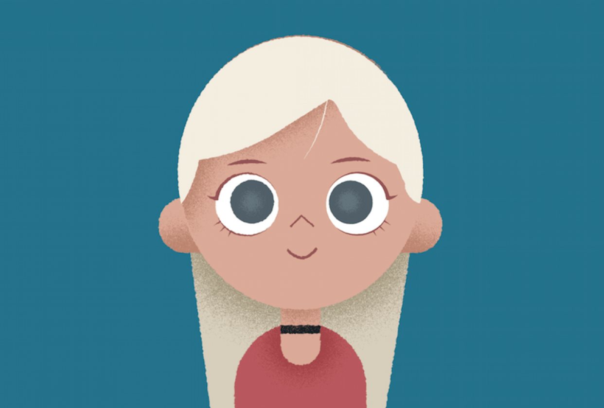Blonde Girl - student project