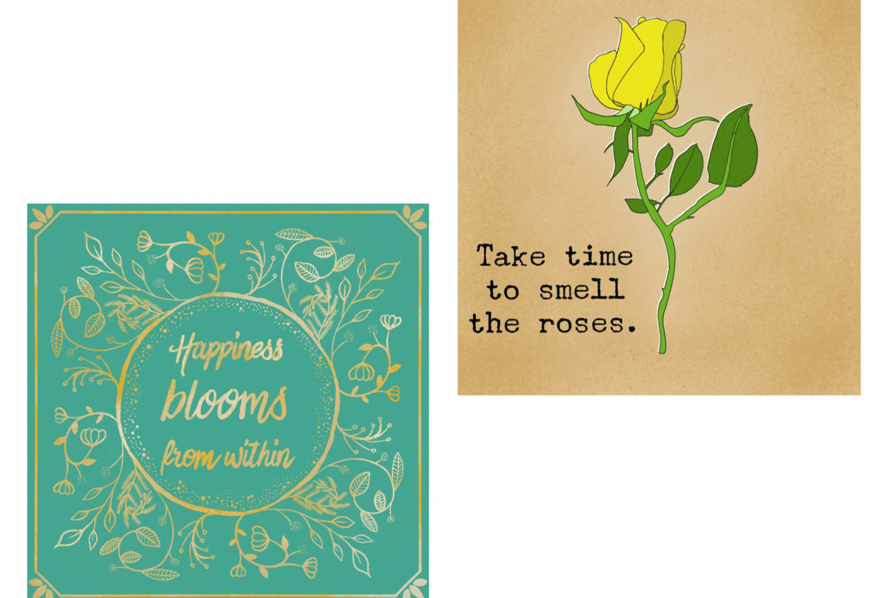 My botanical quotes - student project