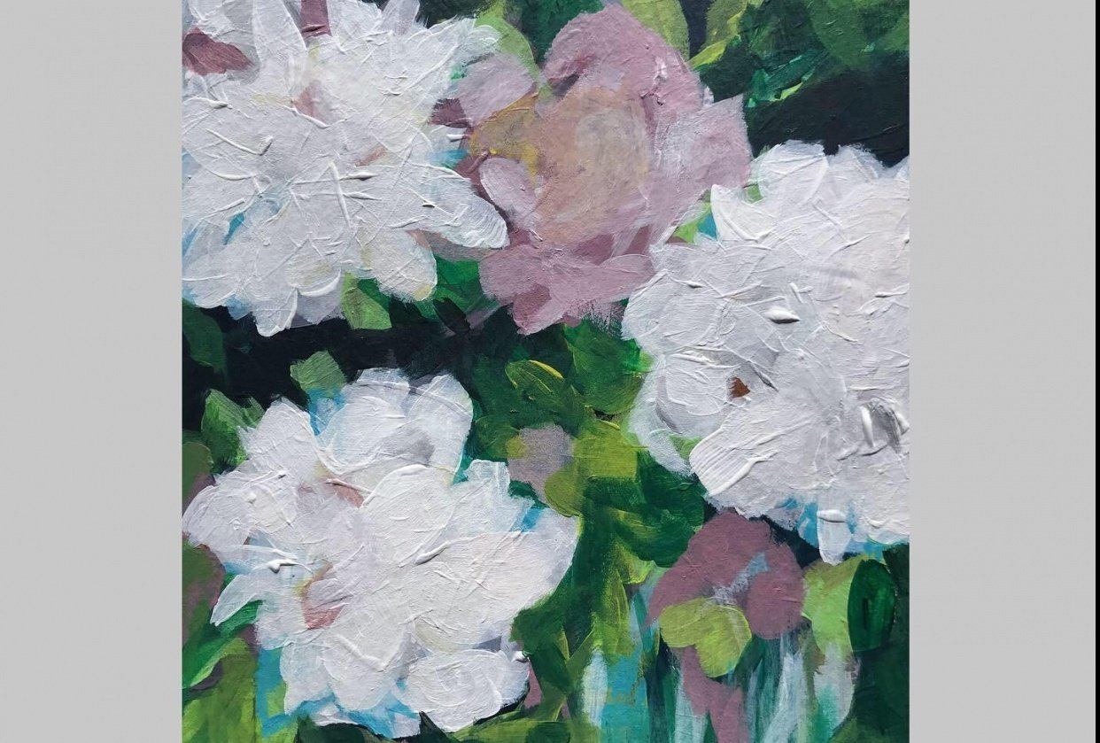 White Peonies - student project