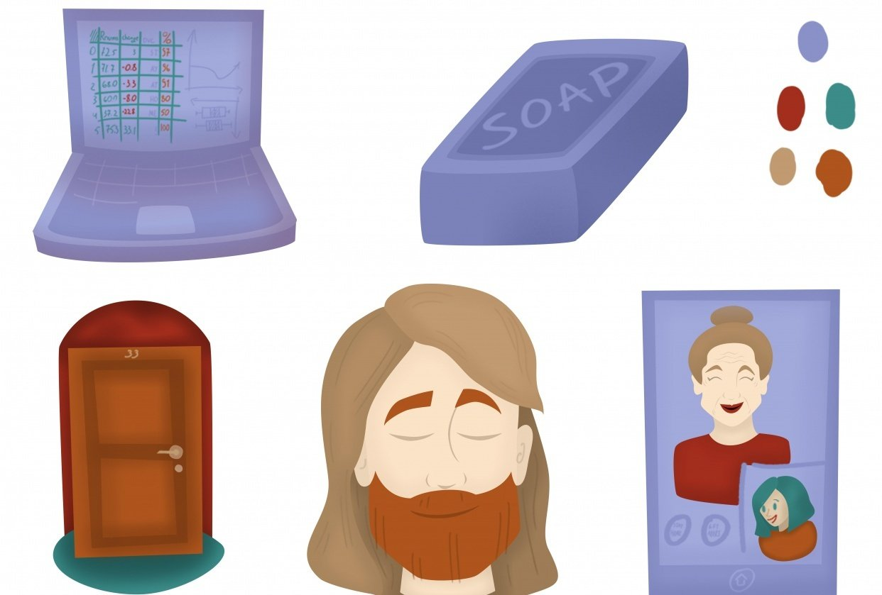Sweet Spots - Spot illustrations - Topic: Virus - student project