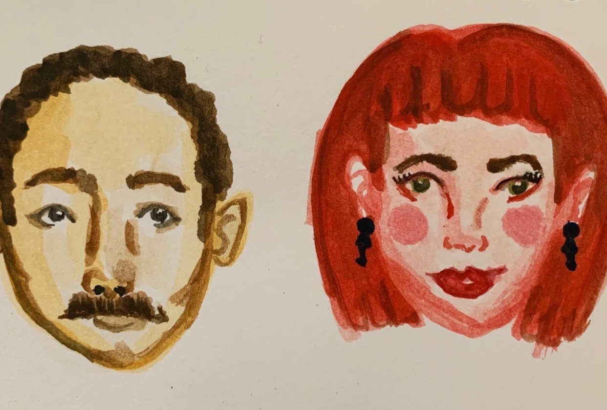 Painting/drawing little faces - student project
