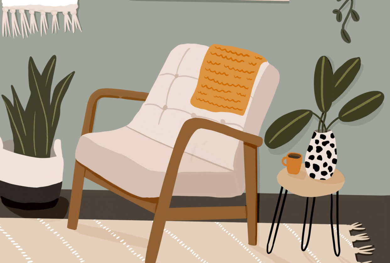 Boho inspired chair - student project