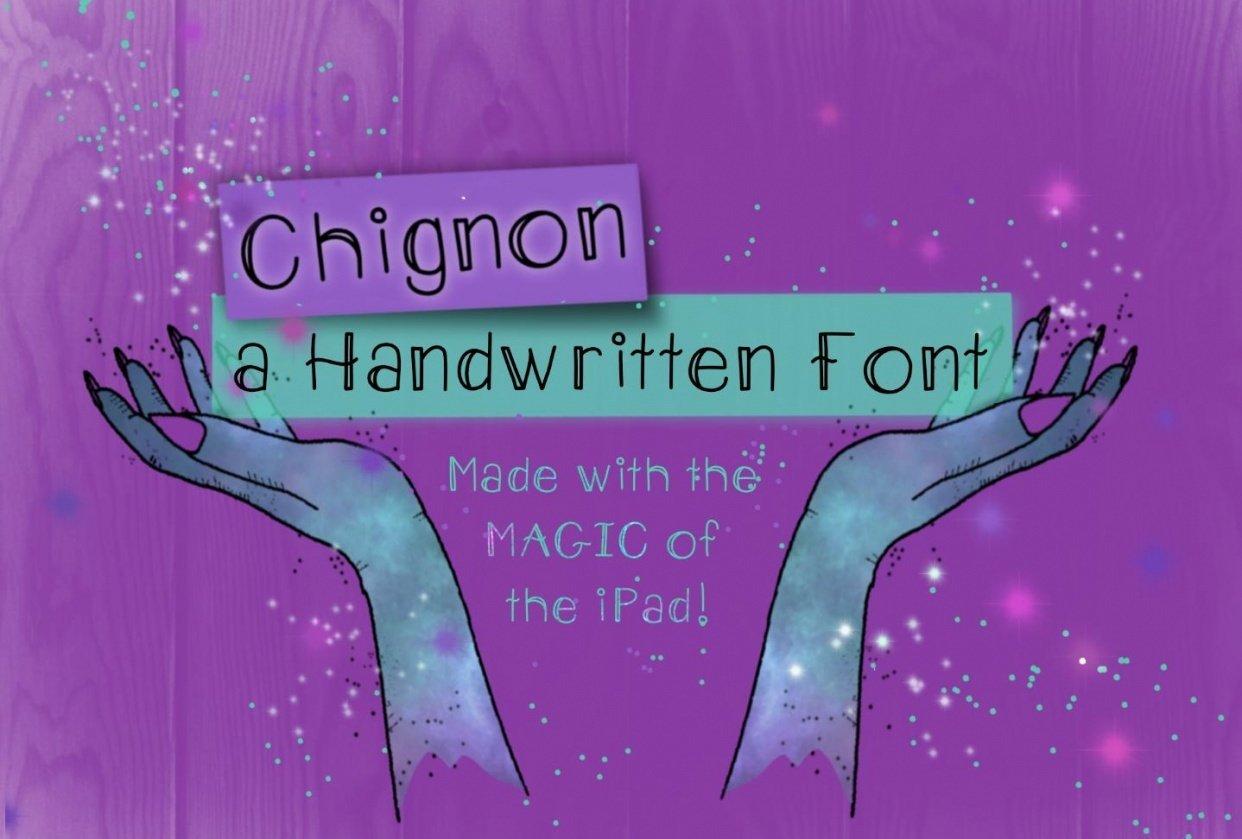 Chignon - handwritten font - student project