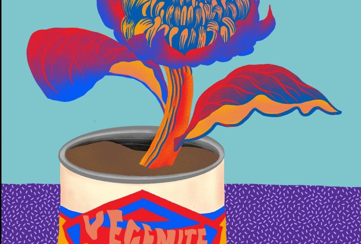 Australiana Wild Flower & Tin Can - student project