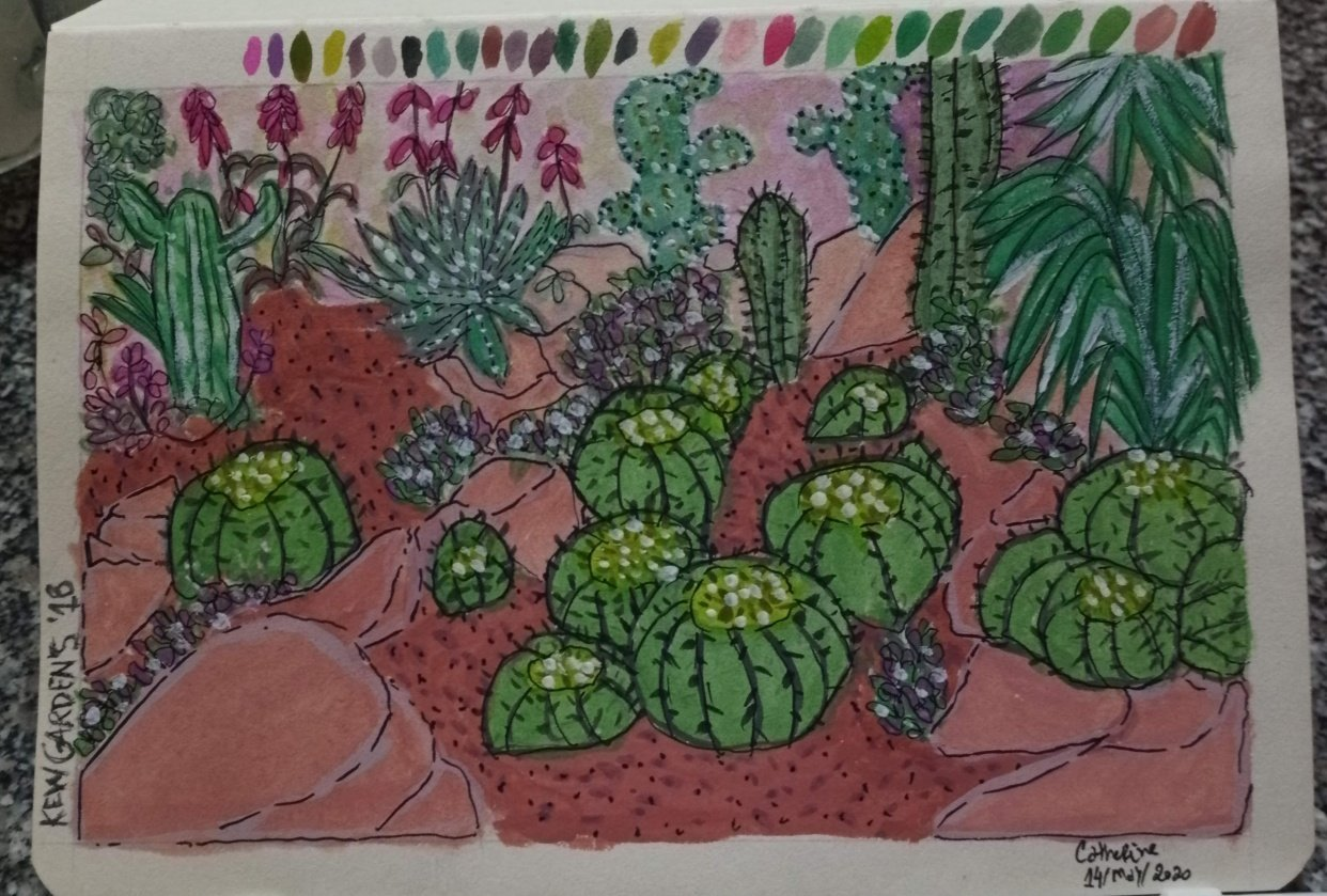 Remembering Kew Gardens with Gouache - student project