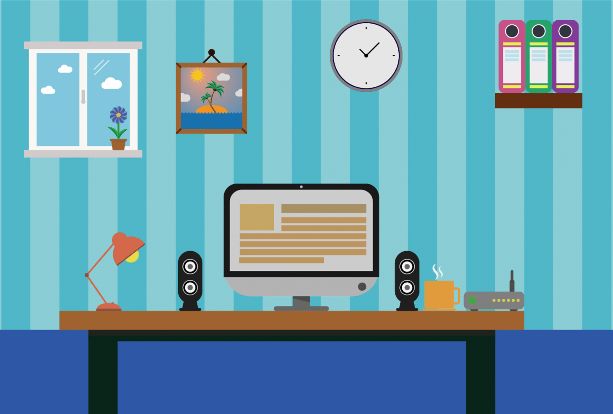 Flat office - student project