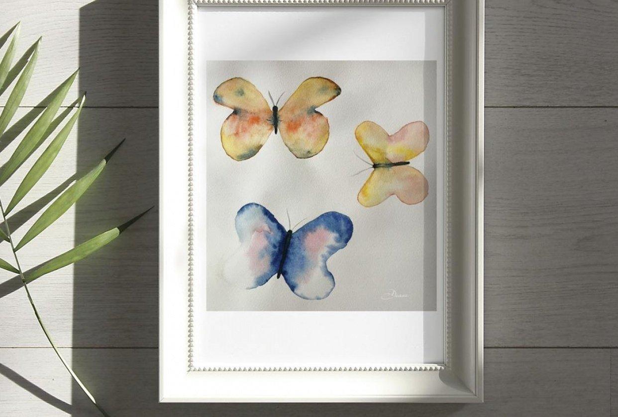 Butterflies Framed - student project
