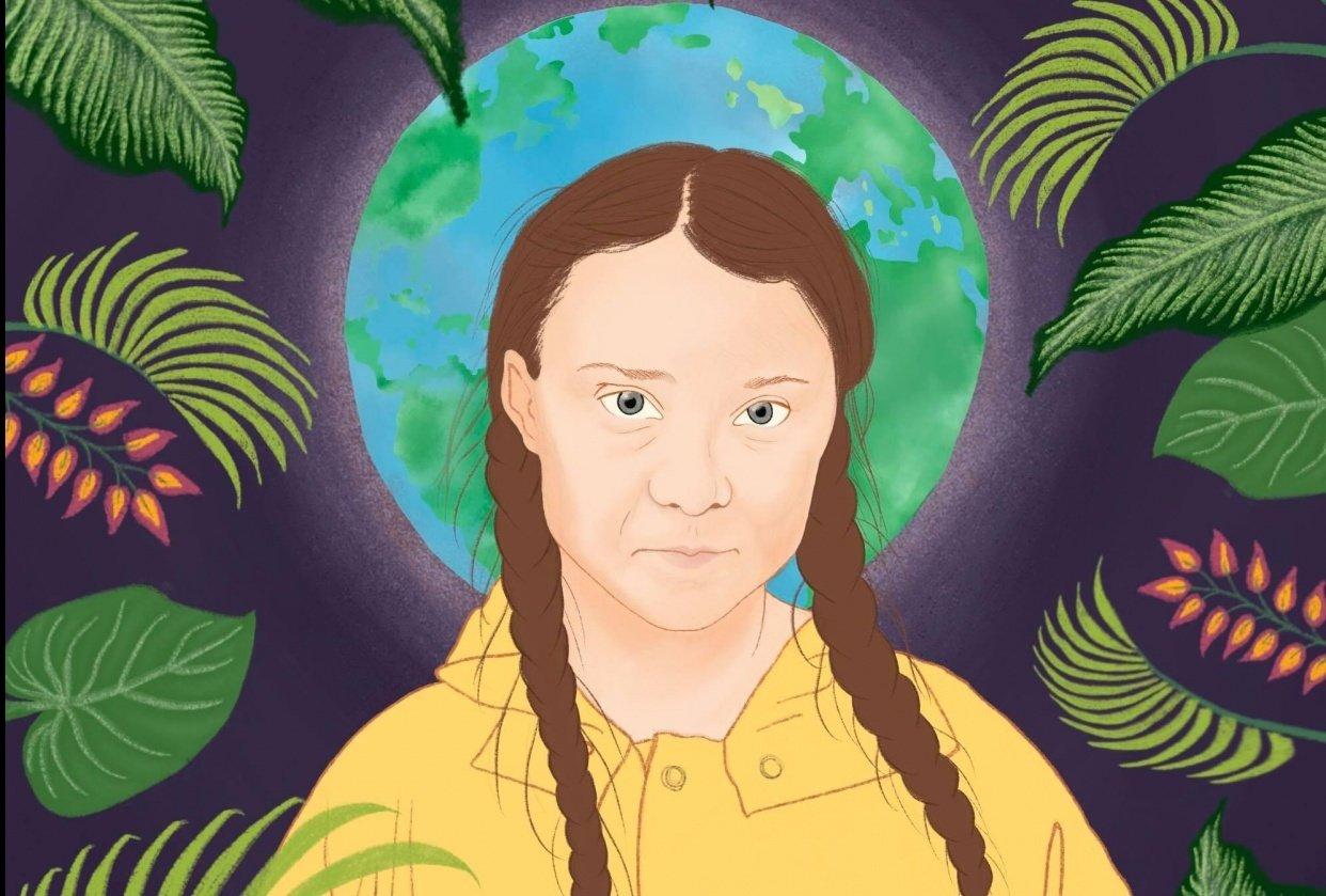 Greta Thunberg illustration - student project