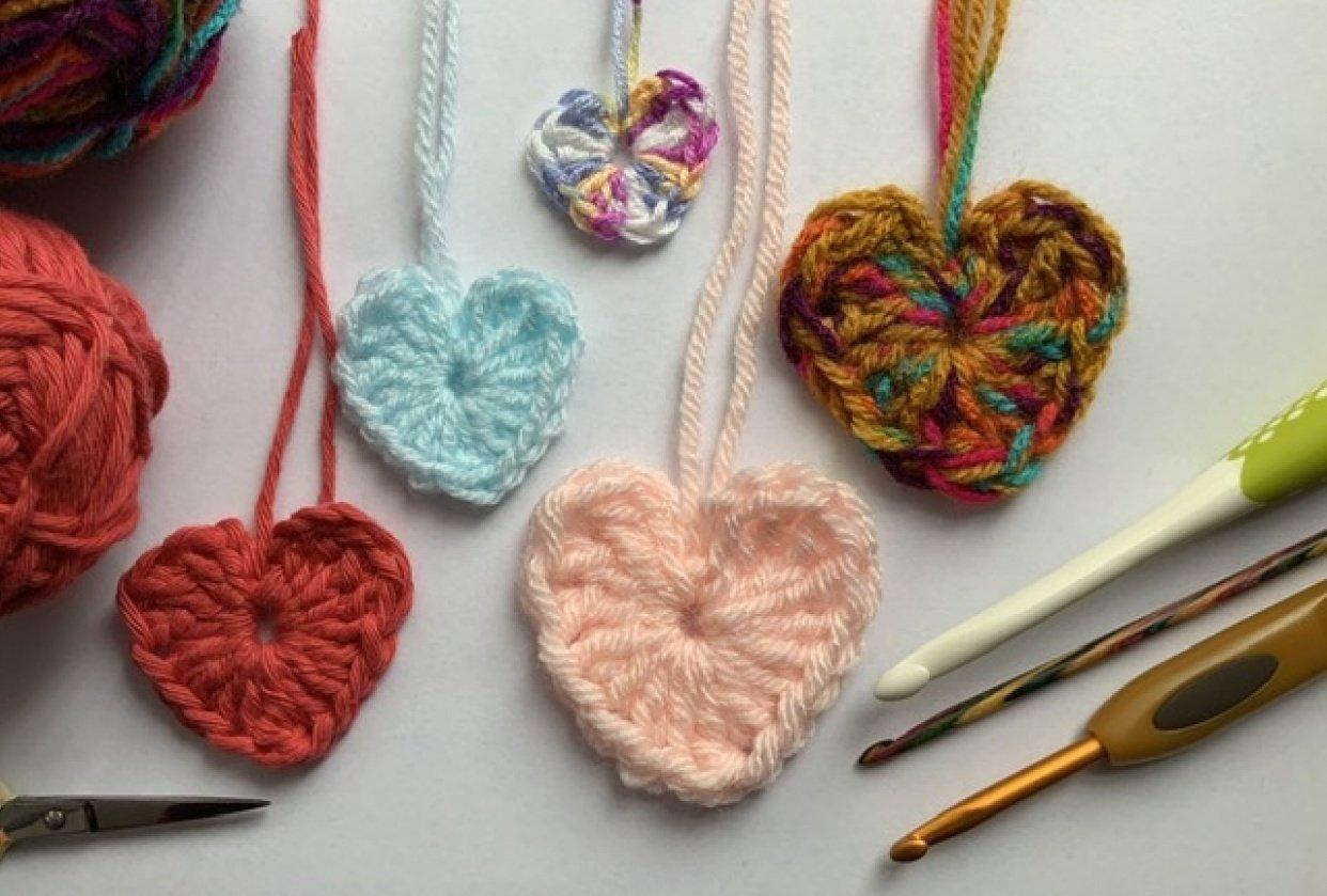 Crochet heart - student project