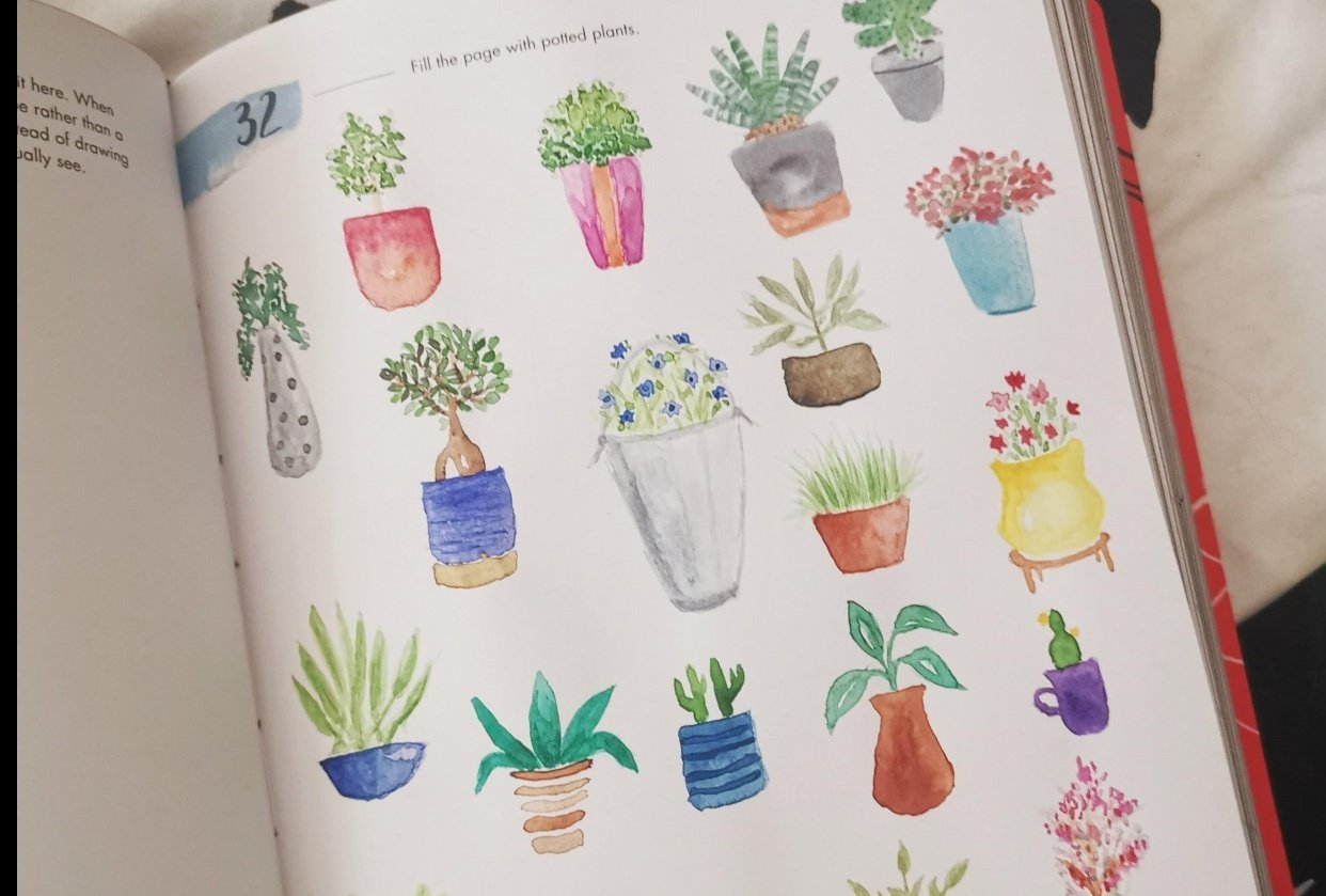A page of potted plants - student project