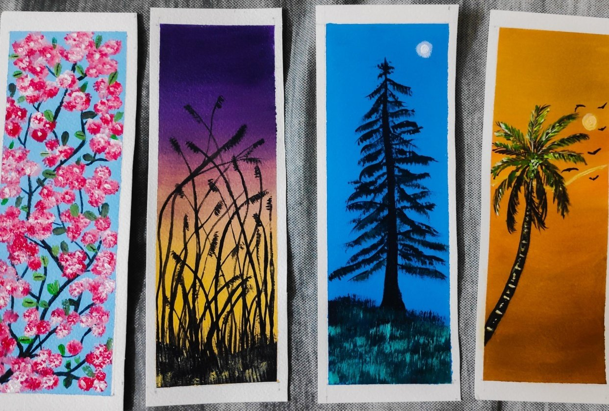 Bookmark Acrylic Painting - student project