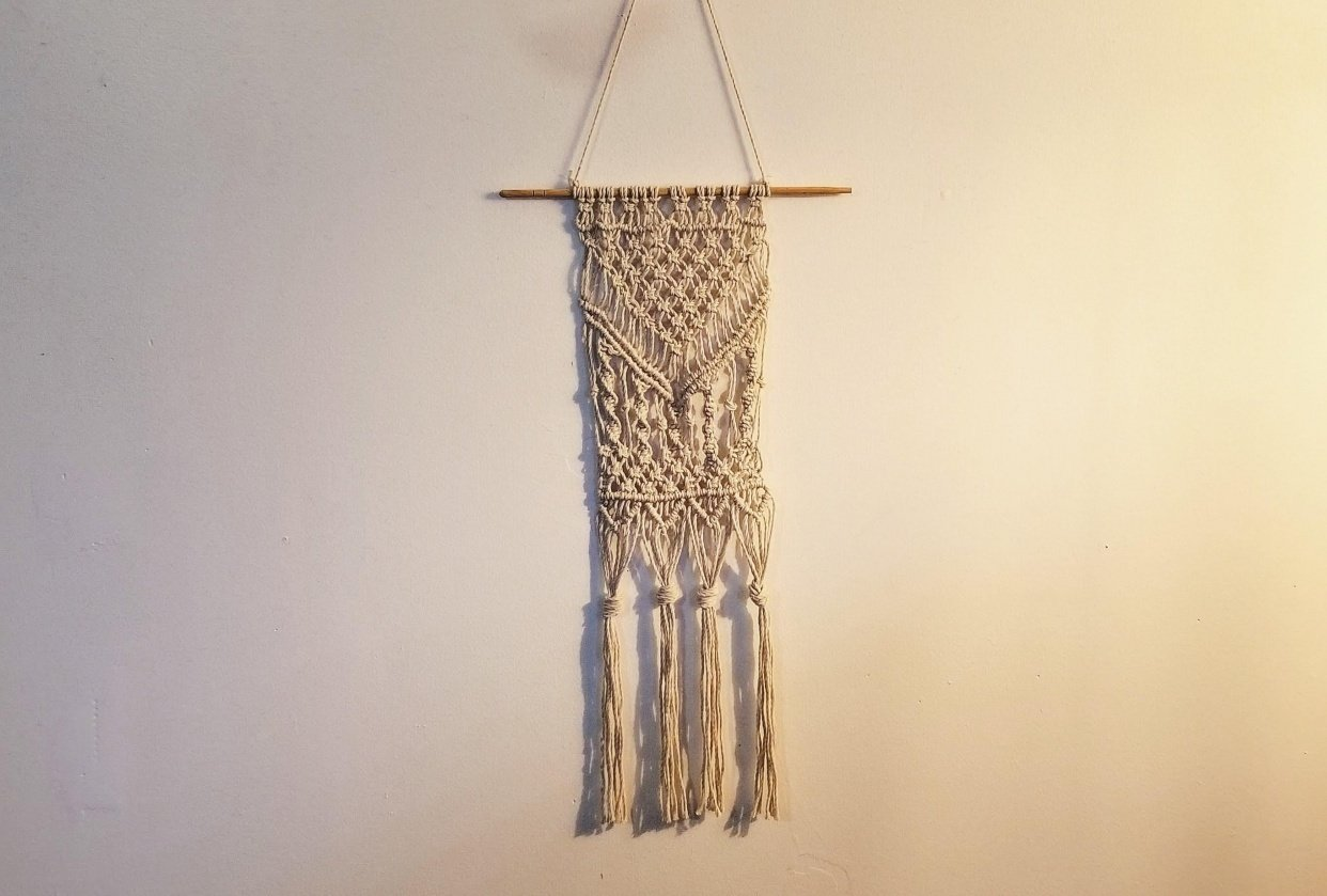 Learning Macrame - student project