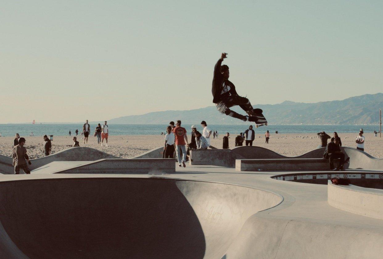 Venice Beach Skateboarder - student project