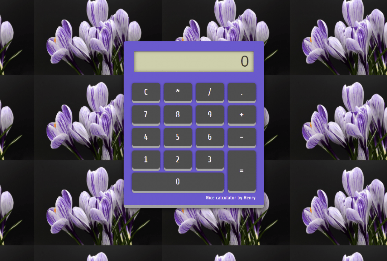 Calculator Project - student project