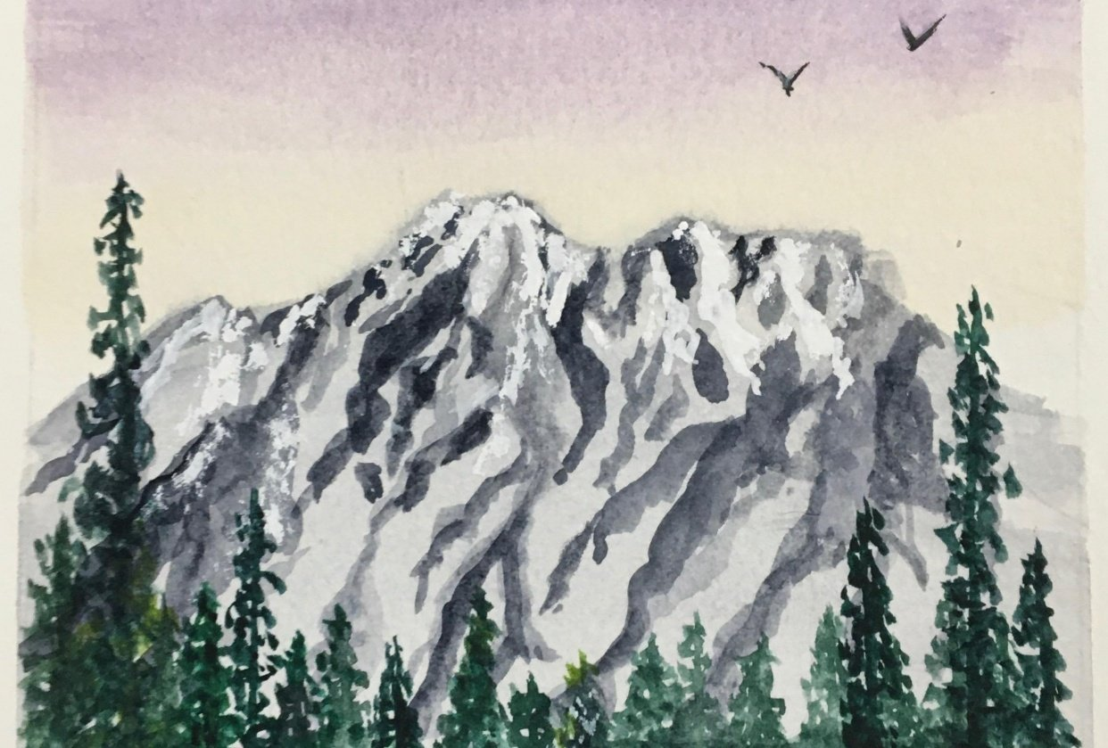 Mountain Top With Trees - student project