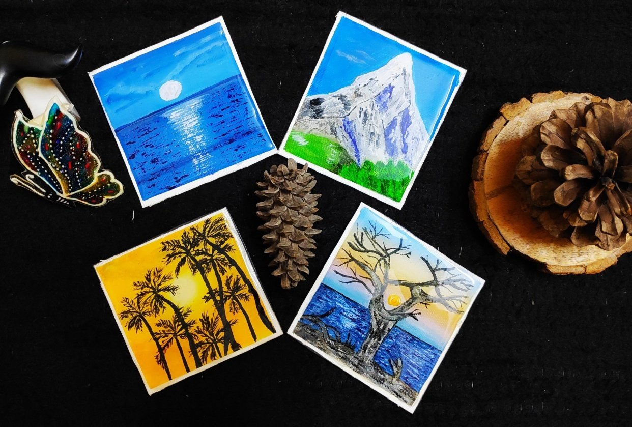 Four Beautiful Landscape Painting - student project