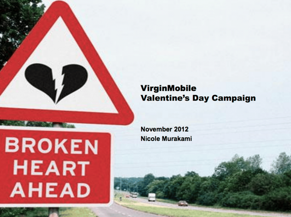 VirginMobile Valentine's Day Campaign - student project