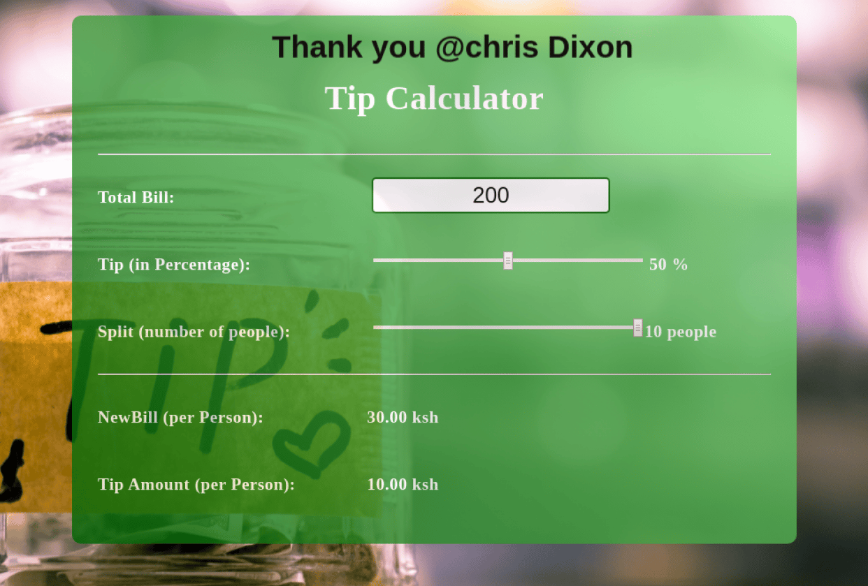 TipCalculator - student project