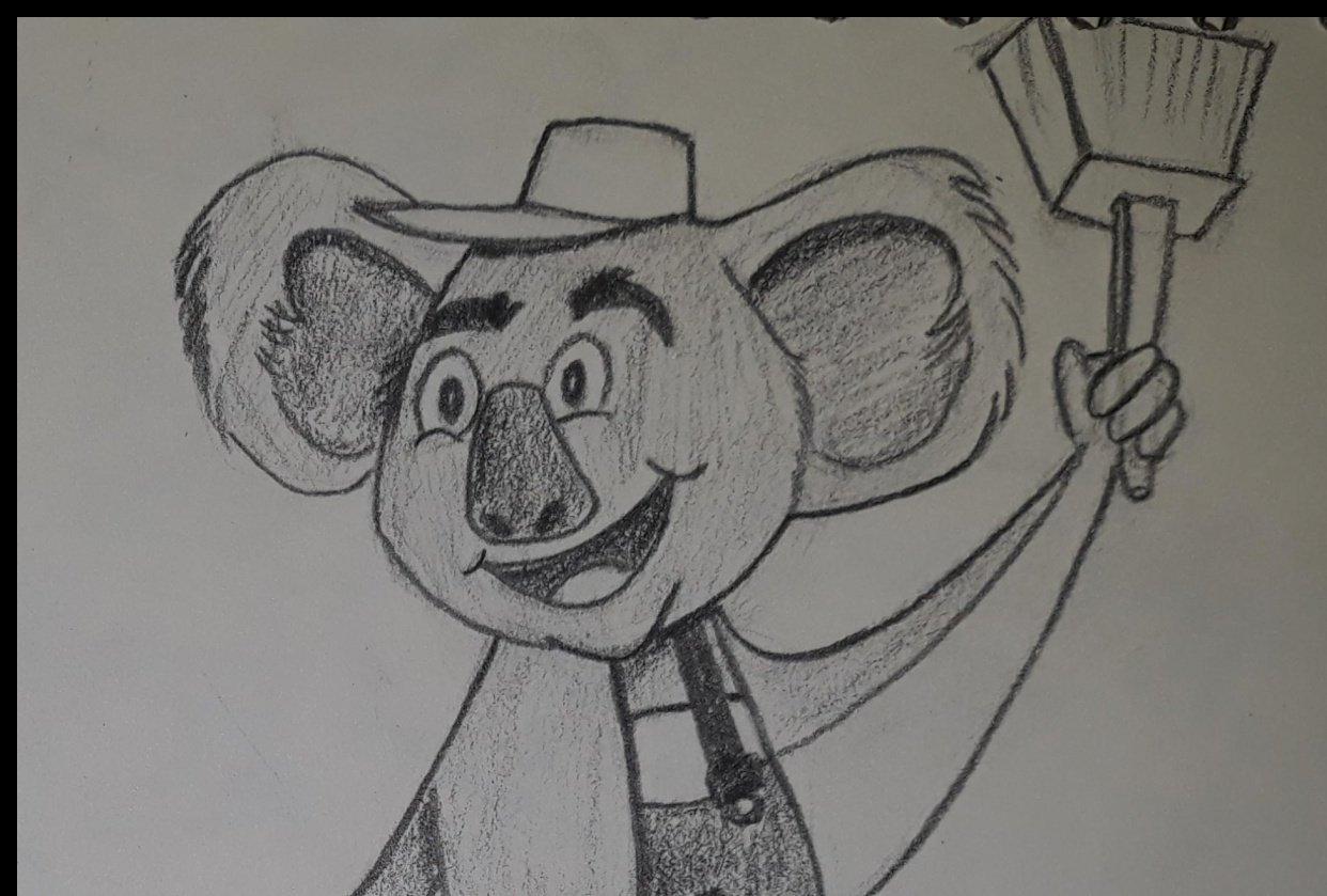 Koala character design for a painting company - student project