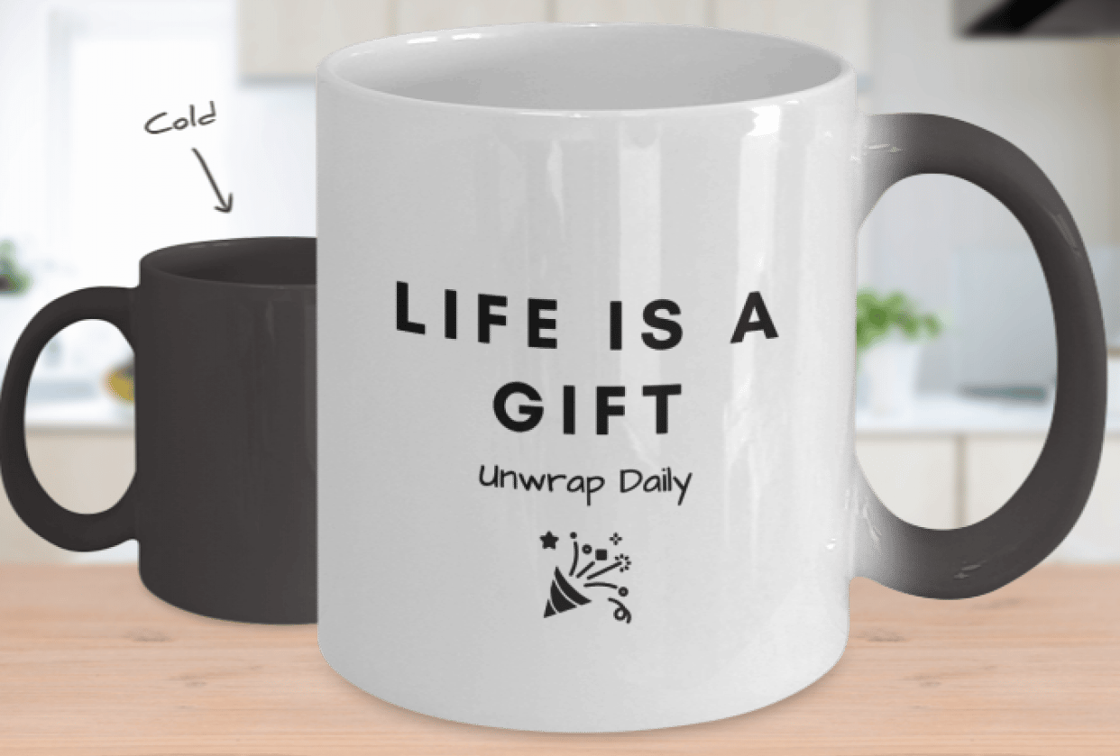 Life is a Gift Color Changing Mug - student project
