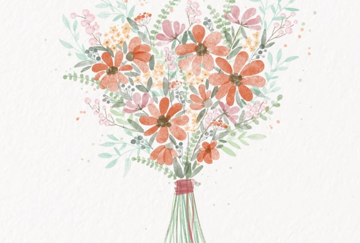 Watercolor Bouquet - student project