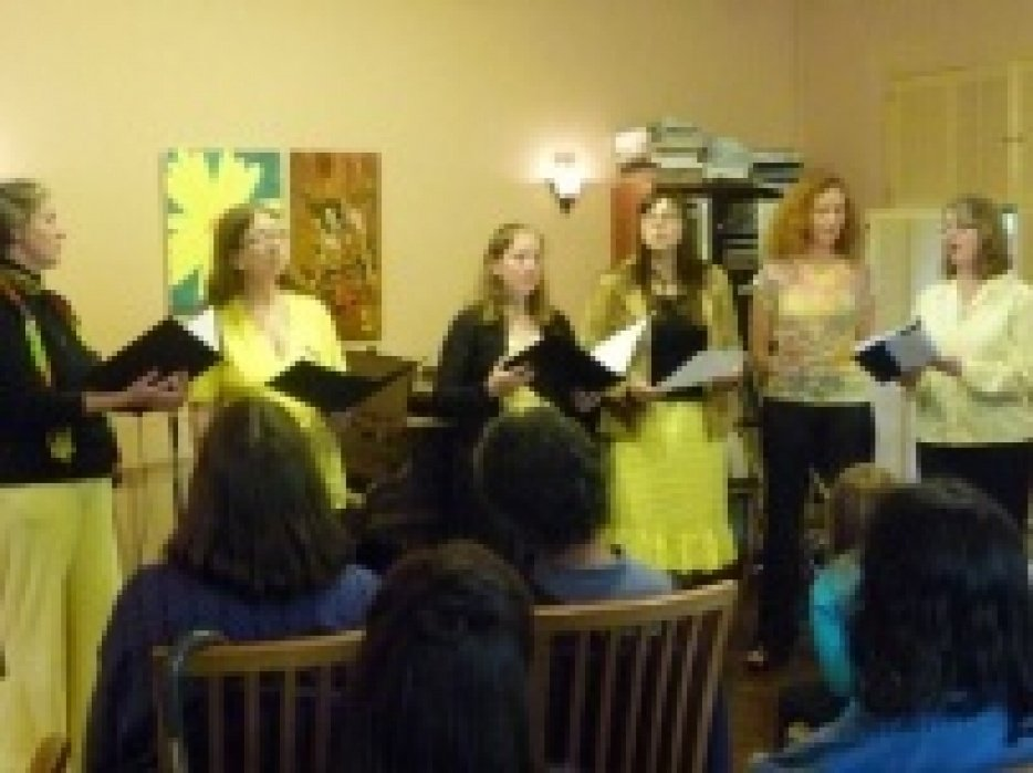 Turning Earth Singers choir website - student project